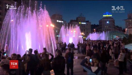 На Крещатике заработали танцующие и поющие фонтаны
