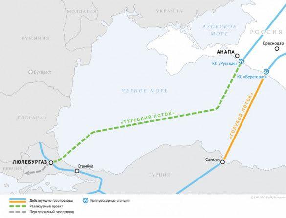 мапа турецького поток, турецький потік