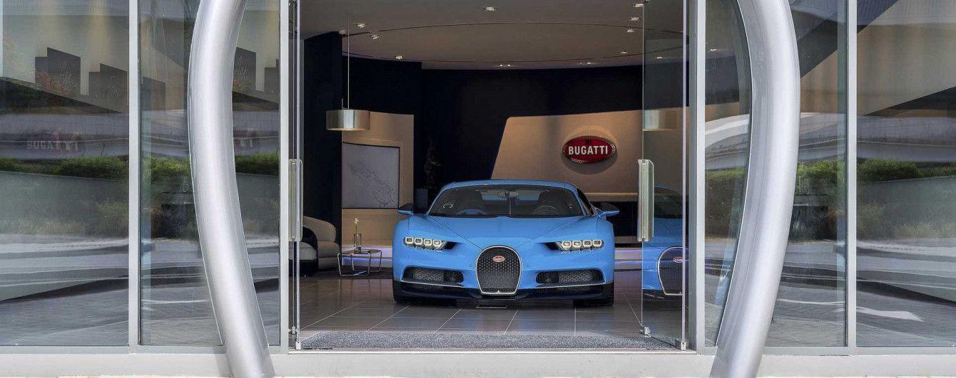 Bugatti открыла в Дубае свой самый большой шоу-рум