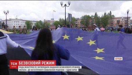 Рада ЄС у скороченому складі затвердила надання безвізового режиму для України