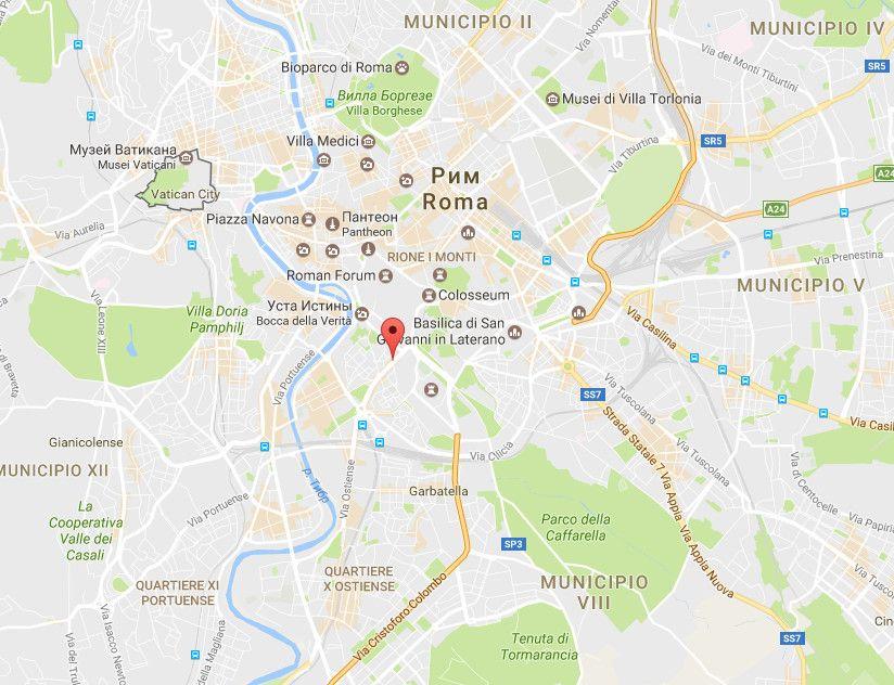 Вибух в Римі на мапі