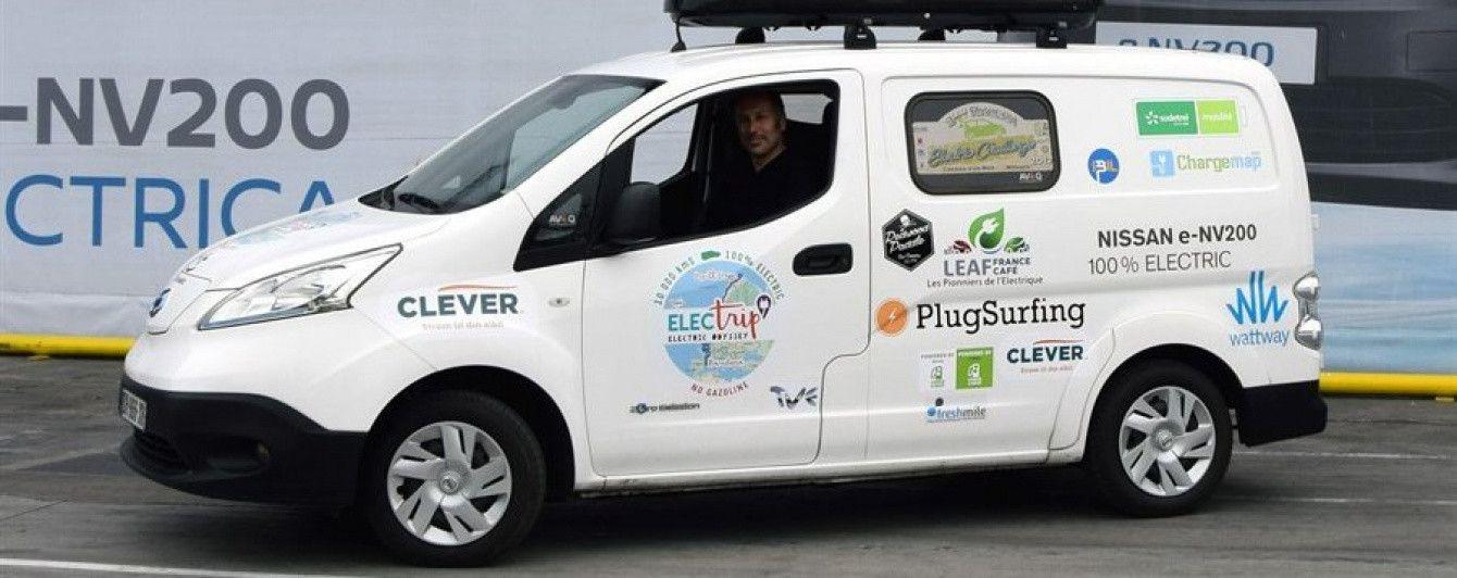 Nissan e-NV200 отправляется в 35-дневный тур по Европе