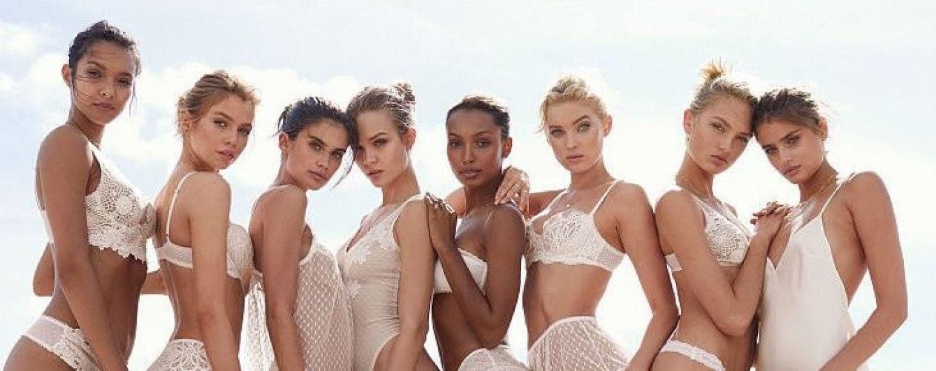 """В прозрачном кружеве и дениме: сексуальные """"ангелы"""" Victoria's Secret на пляже"""