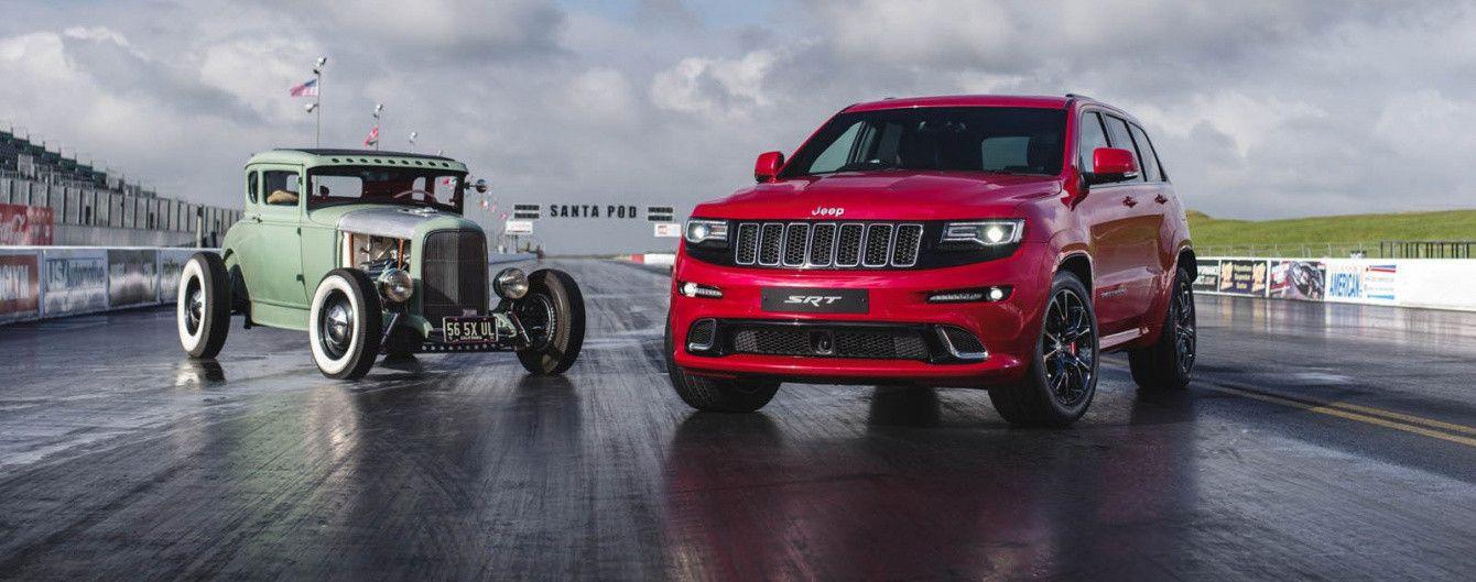 Jeep Grand Cherokee SRT сразился в дрэговой гонке с хот-родом