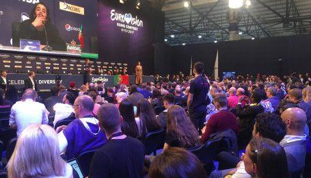 """Пресс-конференция победителя """"Евровидения-2017"""": как встречали Сальвадора Собрала"""