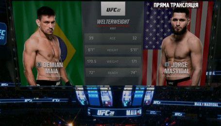 UFC. Демиан Майа - Хорхе Масвидал. Видео боя