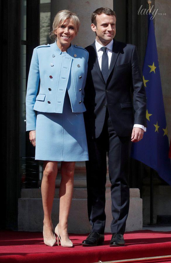 Эммануэль Макрон и его супруга Брижит Макрон_1