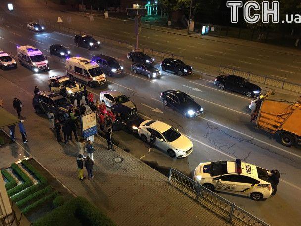 В центре Киева после полицейской погони произошло ДТП
