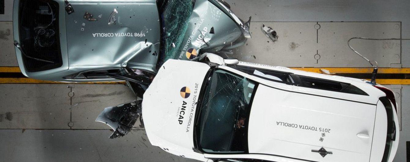 Австралийцы провели краш-тест старой и новой Toyota Corolla