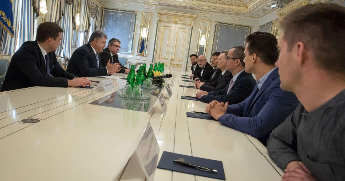 Встреча Порошенко с организаторами и ведущими конкурса @ Сайт президента Украины