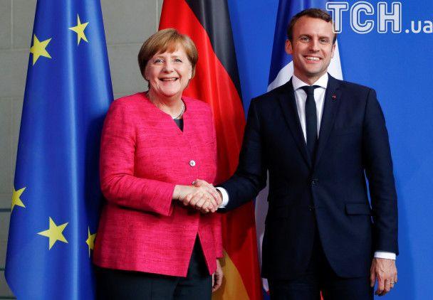 Первая встреча Меркель и Макрона: Франция и Германия несут особую ответственность за судьбу ЕС