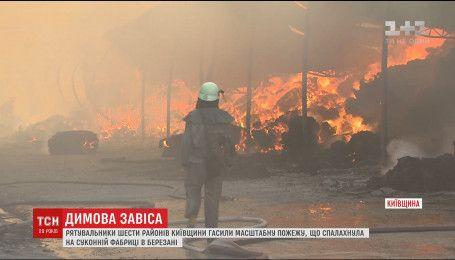 Чтобы потушить пожар на суконной фабрике, съехались пожарные со всей Киевской области