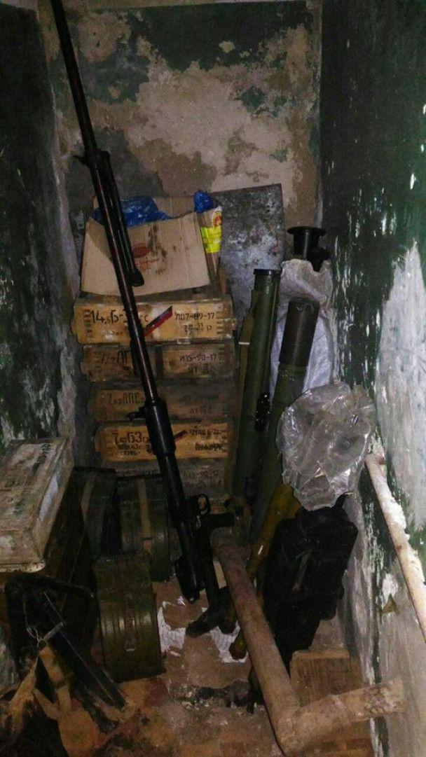 У зоні АТО виявили дві схованки з гранатометами