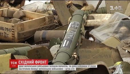 За сутки боевики 37 раз обстреляли позиции украинских военных