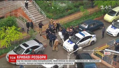В Одесі під час масової бійки дебоширів зламали ніс поліцейському
