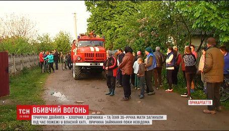 На Прикарпатье во время пожара в собственном доме погибли 3-летние двойняшки и их мама