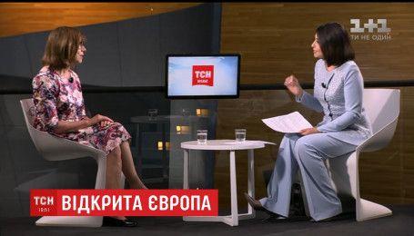Студию ТСН посетила евродепутат Ребекка Хармс - активная сторонница евроинтеграции Украины
