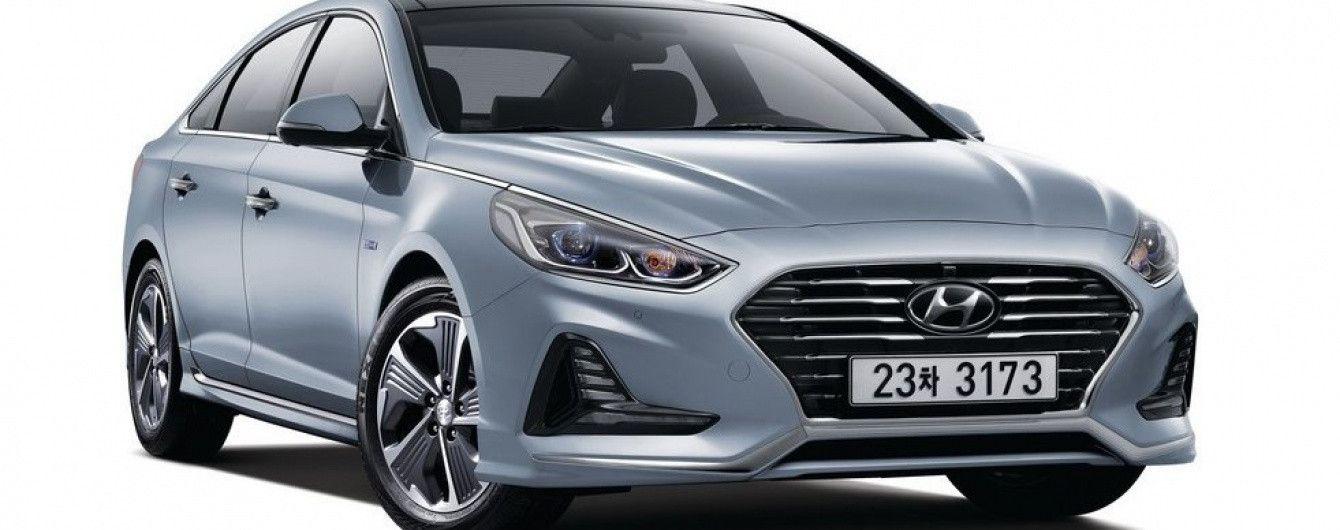 Hyundai представил рестайлинговый гибридный седан Sonata
