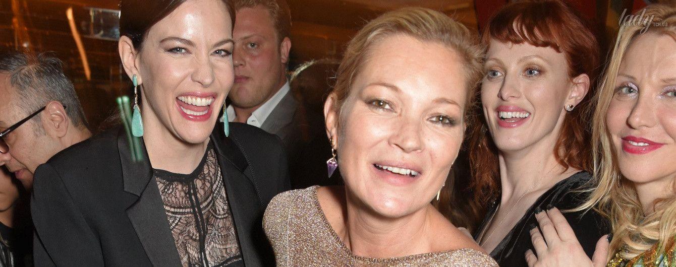 Звездные подруги Лив Тайлер и Кейт Мосс отдохнули на вечеринке в Лондоне