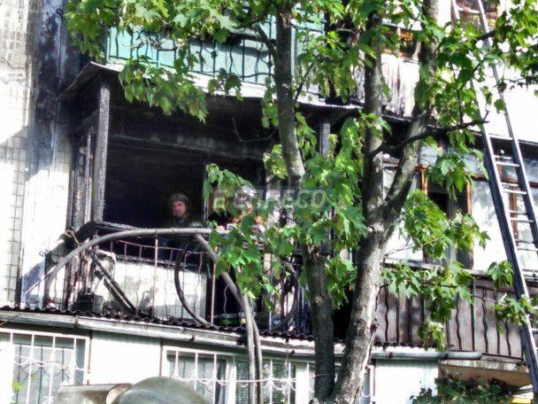 В Киеве из-за окурка на балконе сгорели три квартиры