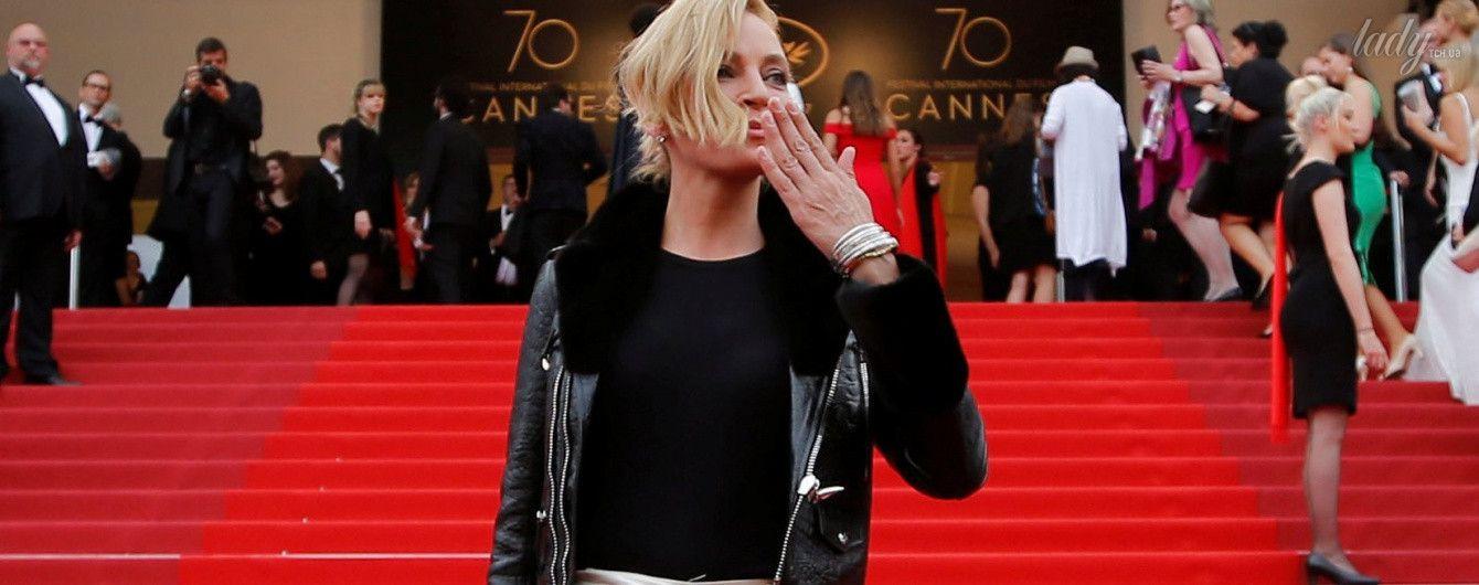 Не так, как все: Ума Турман удивила выбором наряда гостей Каннского кинофестиваля