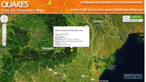 землетрус на Одещині