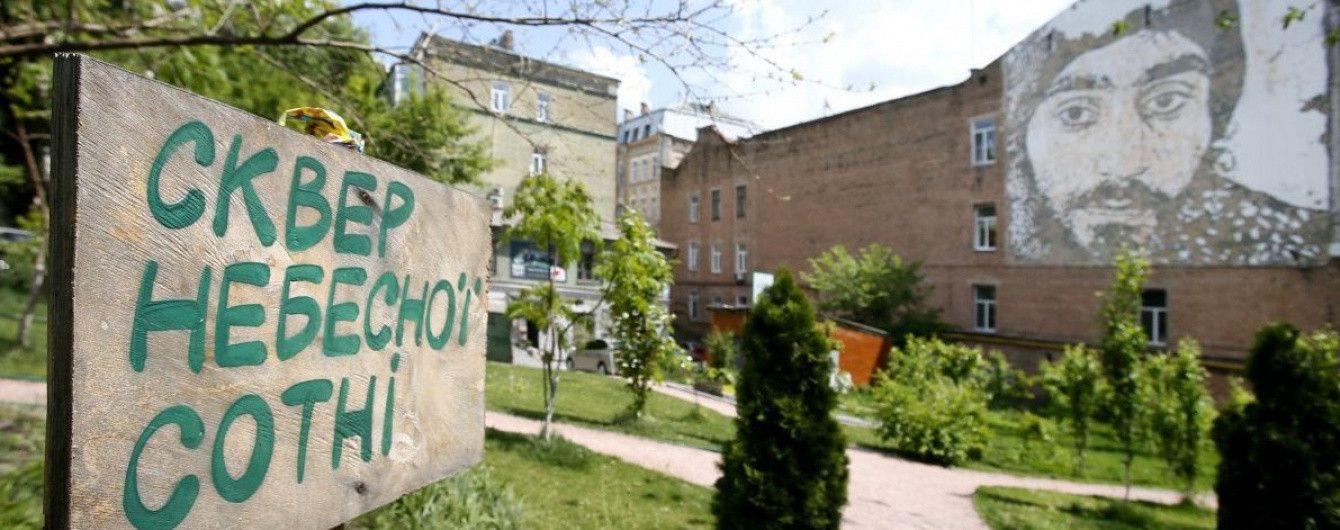 Громаді Києва остаточно повернули сквер Небесної сотні
