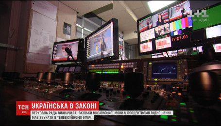 Українська мова займе 75% ефірного часу на загальнонаціональних телеканалах