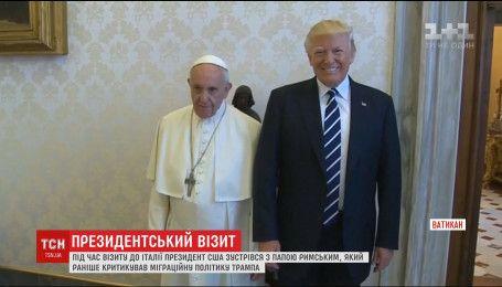 Трамп встретился с Папой Римским, который ранее критиковал миграционную политику президента