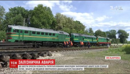 Наслідки зіткнення двох поїздів у Кам'янці-Подільському ліквідовують і досі