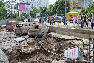 В Сети появилось видео масштабного прорыва трубы в Киеве