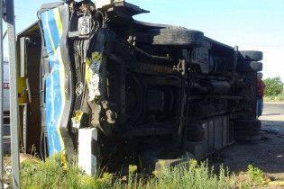 В Запорожской области маршрутка столкнулась с Mercedes-Benz Sprinter