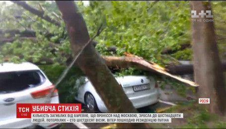 Зросла кількість жертв потужного буревію, що пронісся над Москвою
