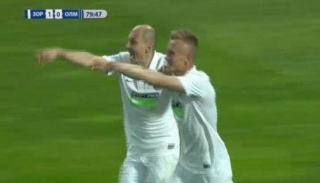 Заря - Олимпик - 2:0. Видео гола Петряка