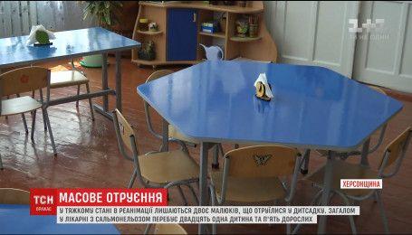 В реанимации остаются более 20 детей, что отравились в детском саду на Херсонщине