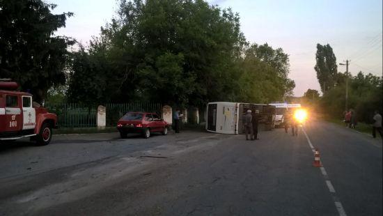 На Черкащині перекинувся рейсовий автобус: 5 пасажирів госпіталізовані