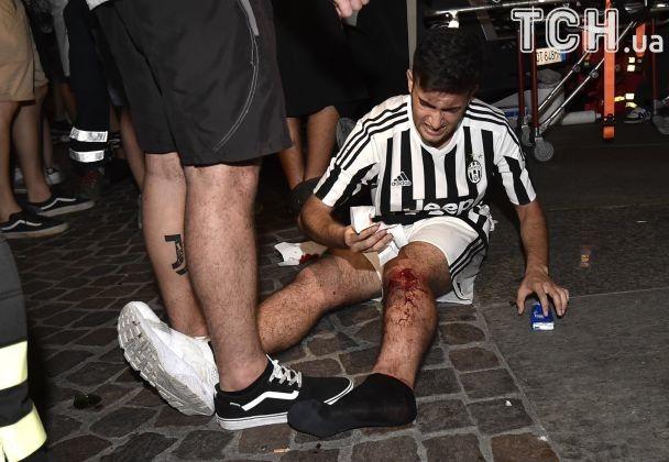 ВТурині під час перегляду футбольного матчу утисняві постраждали 1400 людей