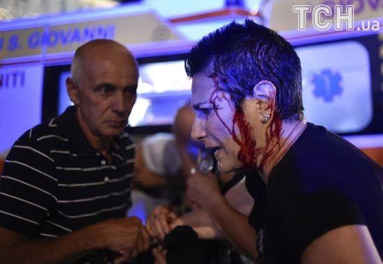 Налякані вибухом глядачі Ліги чемпіонів почали тікати й у тисняві завдали одне одну травм