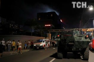 Пожар, силовики и жильцы в халатах: появились фото нападения боевиков на отель на Филиппинах