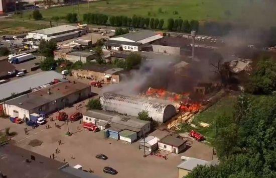У Броварах ліквідували масштабну пожежу