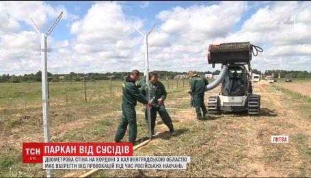 В Литве начали строить стену от России