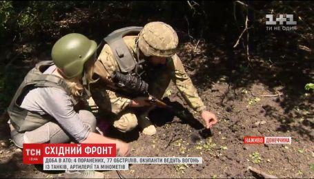 Четыре украинских военных ранены на Восточном фронте