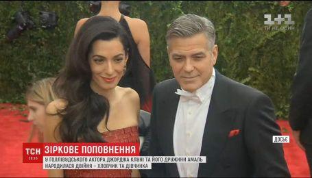 Жена голливудского красавца Джорджа Клуни родила актеру двойню