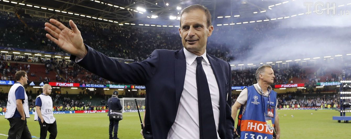 """""""Ювентус"""" подовжив контракт з Аллегрі після поразки в фіналі Ліги чемпіонів"""