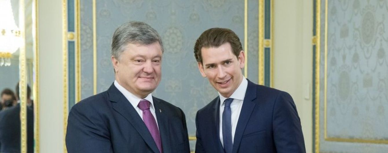 Порошенко и глава МИД Австрии Курц обсудили усиление экономических и секторальных санкций против РФ