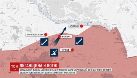 Терористи артилерією рівняють із землею Новотошківське та Кримське