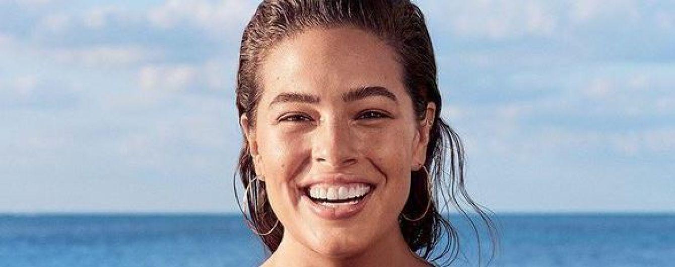 Без макияжа, в купальнике и белом платье: Эшли Грэм в фотосессии для глянца