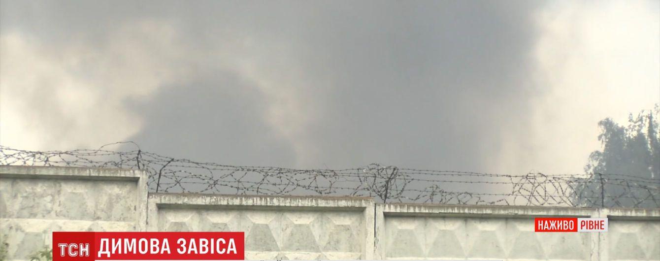 У Рівному заперечують вибухи у військовій частині під час пожежі