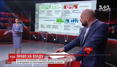 Волонтери вимагають проголосувати за фінансову частину медичної реформи