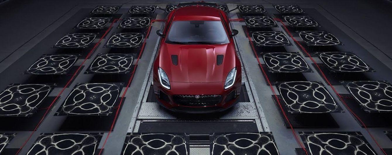 Jaguar показал звук двигателя купе F-Type SVR